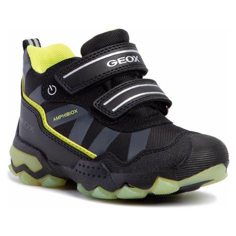 Trzewiki GEOX - J Buller B Abx C J949WC 0FU54 C0802 M Black/Lime