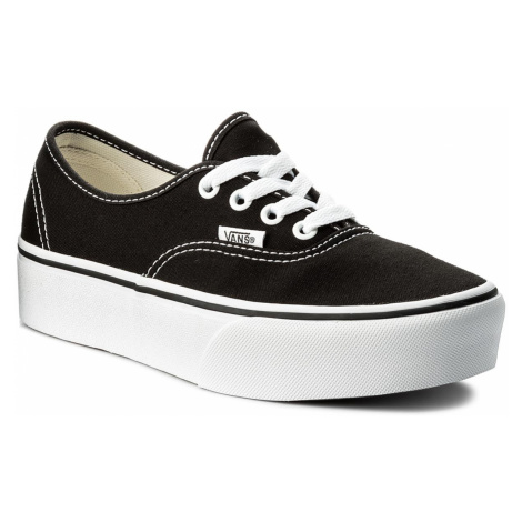 Tenisówki VANS - Authentic Platform VN0A3AV8BLK Black