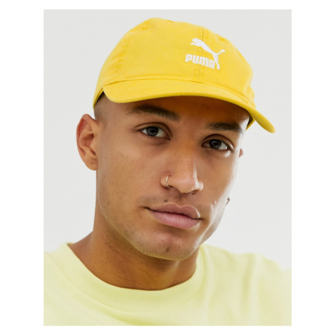Puma Archive BB Logo cap in yellow