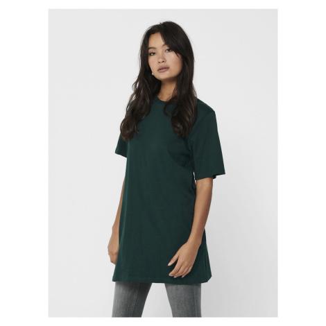 Ciemnozielona koszulka oversize Jacqueline de Yong Kris
