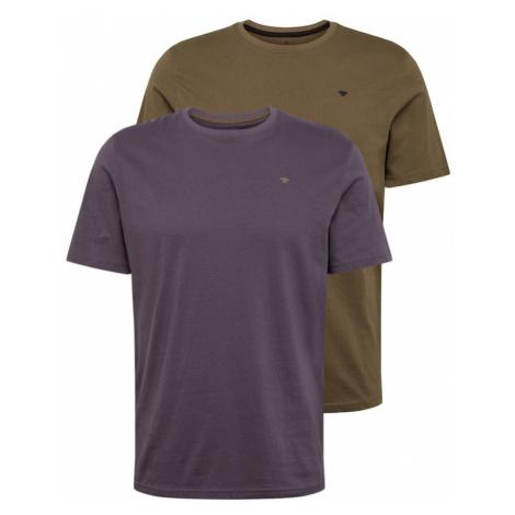 TOM TAILOR Koszulka fioletowy / brązowy
