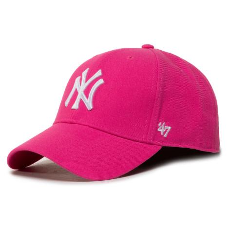 Czapka z daszkiem 47 BRAND - Mlb New York Yankees '47 Mvp Snapback B-MVPSP17WBP-MA Magenta