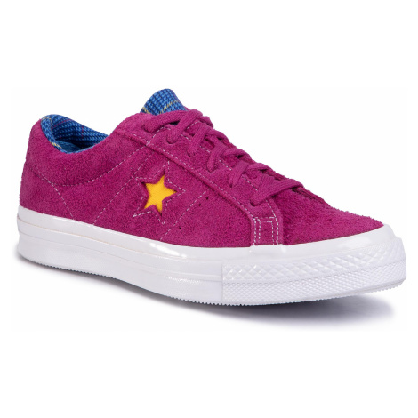 Tenisówki CONVERSE - One Star Ox 166846C Rose Maroon/Rush Blue/Amarillo