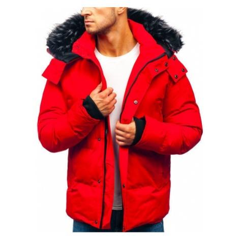 Kurtka męska zimowa czerwona Denley 201821 J.STYLE
