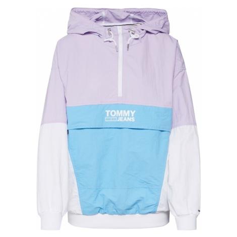 Tommy Jeans Kurtka przejściowa jasnoniebieski / liliowy / biały Tommy Hilfiger