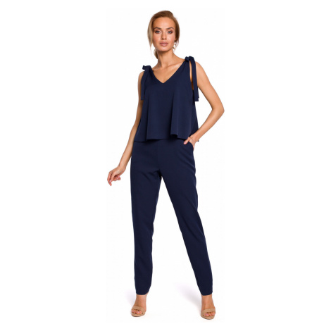 Made Of Emotion Woman's Jumpsuit M437 Navy Blue
