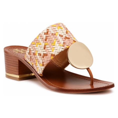 Japonki TORY BURCH - Patos Disk 45mm Sandal 74005 Woven/Neutral Woven 811