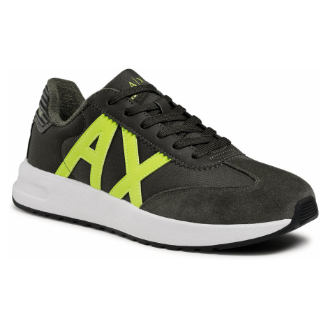 Sneakersy ARMANI EXCHANGE - XUX071 XV277 K518 Fango+Lime