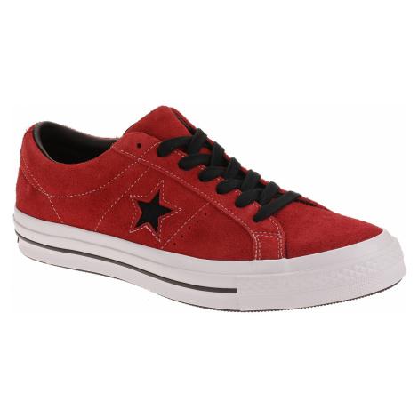 buty Converse One Star OX - 163246/Enamel Red/Black/White