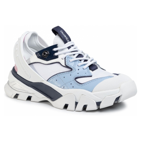Sneakersy CALVIN KLEIN JEANS - Clarice B4R0883 White/Chambray Blue