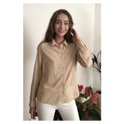 Trendyol Stone Polka dot Shirt