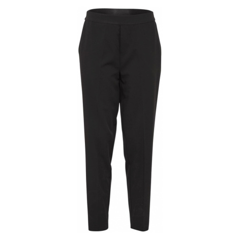 OBJECT Spodnie w kant 'CECILIE' czarny