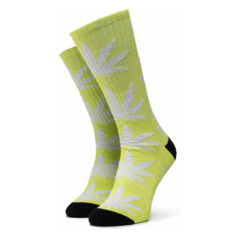 HUF Skarpety Wysokie Damskie Plantlife Metallic Leaves Sock SK00447 r.OS Zielony