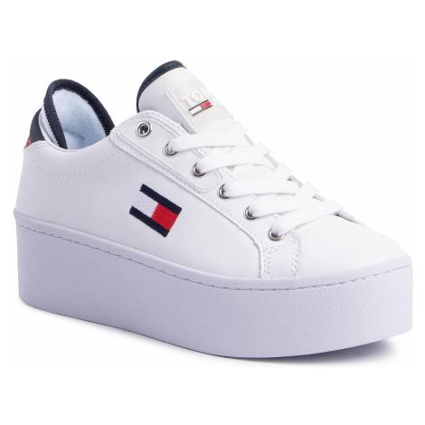 Sneakersy TOMMY JEANS - Flatform Tommy Jeans Sneaker EN0EN00718 Rwb 0K5 Tommy Hilfiger