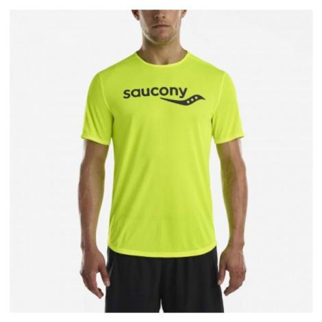 Saucony SHORT SLEEVE VIZIPRO CI zielony L - Koszulka do biegania męska