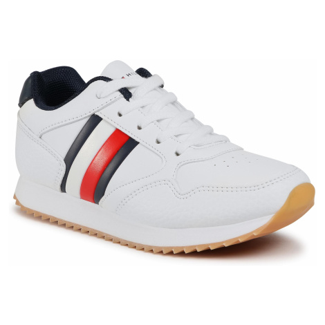 Sneakersy TOMMY HILFIGER - Low Cut Lace-Up T3B4-30935-0621X M White/Blue 336