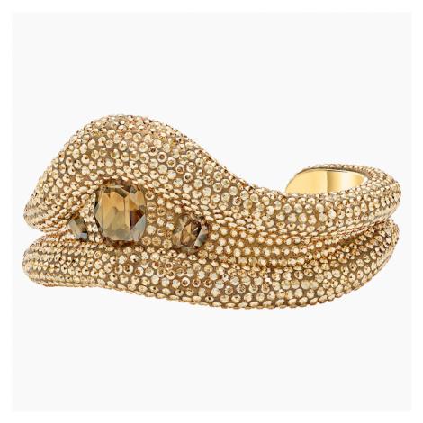 Tigris Cuff, Gold tone, Gold-tone plated Swarovski