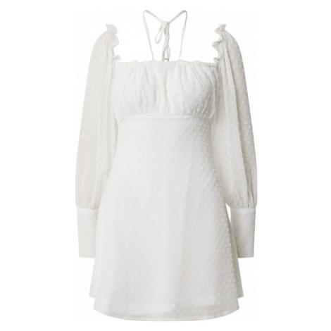 Missguided Sukienka 'DOBBY' biały