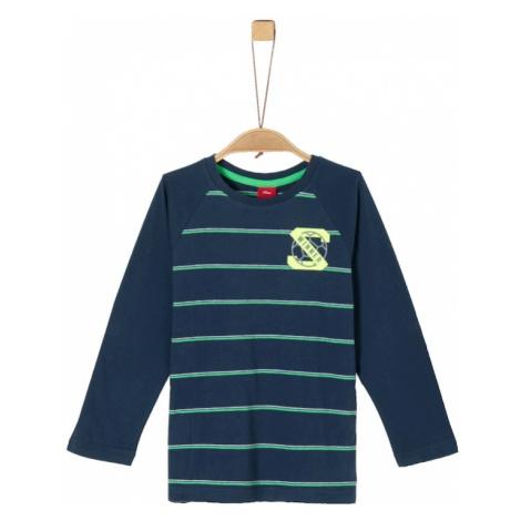 S.Oliver Koszulka zielony / atramentowy