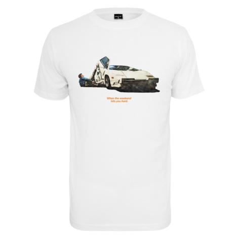 Mister Tee Koszulka 'Weekend Wolf Tee' biały
