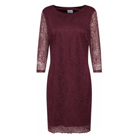 VILA Sukienka 'BLOND' czerwone wino