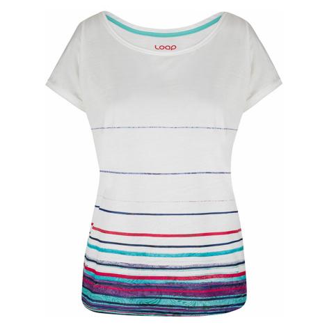 Biała damska bluzka z krótkimi rękawami LOAP Alby