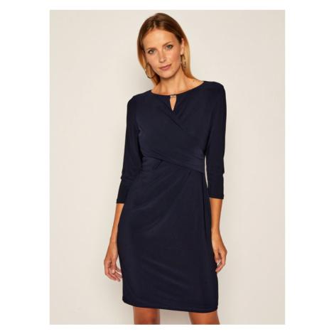 Lauren Ralph Lauren Sukienka koktajlowa 250785858006 Granatowy Regular Fit