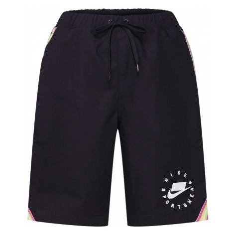 Nike Sportswear Spodnie różowy / czarny