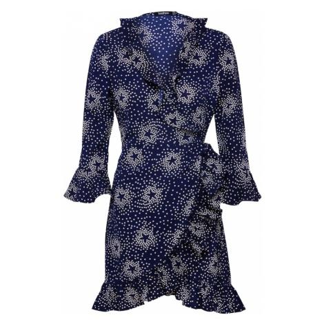 Boohoo Sukienka 'Bethany Floral' niebieska noc / biały