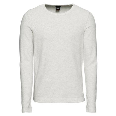 BOSS Sweter 'Tempest 10214364 01' nakrapiany biały Hugo Boss