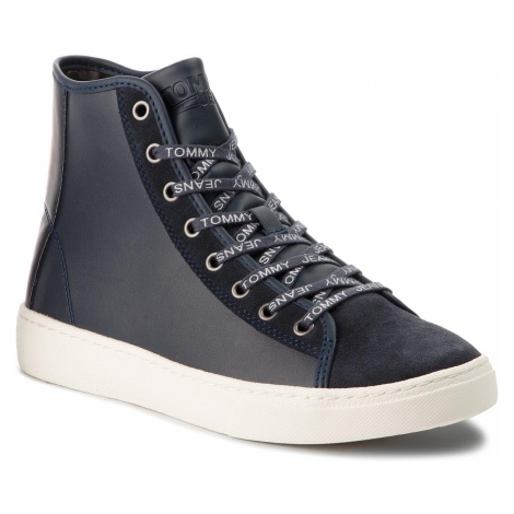 Sneakersy TOMMY JEANS - Light Sneaker Mid EM0EM00125 Ink 006 Tommy Hilfiger