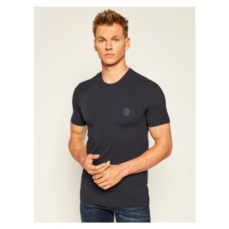 Trussardi Jeans T-Shirt 52T00377 Granatowy Slim Fit
