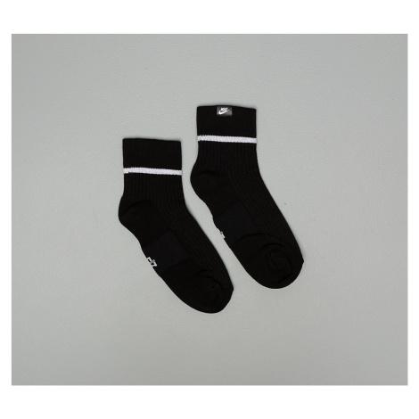 Nike Sneaker Essential Ankle Sox 2 Pair Black/ White/ White