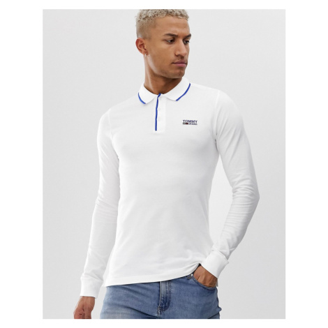 Tommy Jeans stretch long sleeve polo shirt Tommy Hilfiger