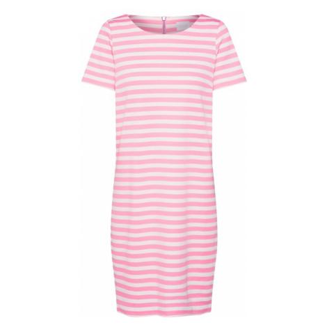 VILA Sukienka 'Tinny New' różowy / biały