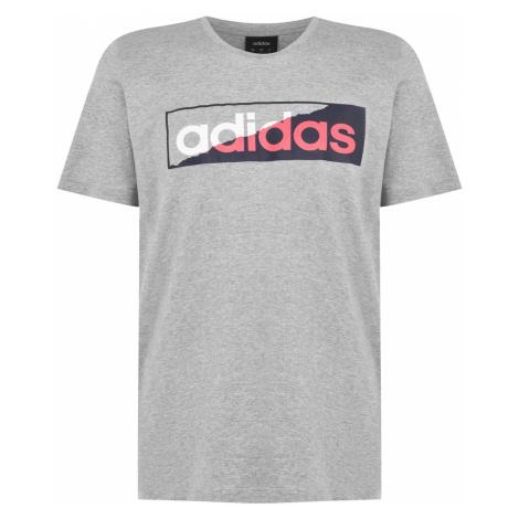 Koszulka męska Adidas Ripped Linear QT