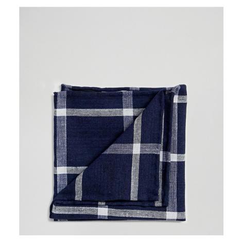 Noak pocket square in large navy check