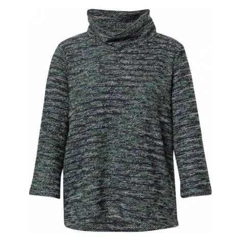 TOM TAILOR Sweter czarny / biały / atramentowy / szary