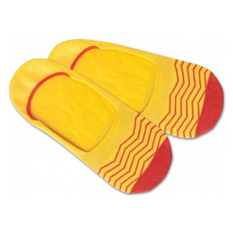 DillySocks Skarpetki stopki 'Hidden Square Lights' czerwony / żółty