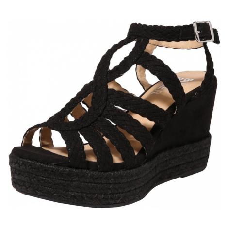 BULLBOXER Sandały z rzemykami czarny