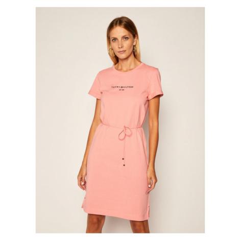 Tommy Hilfiger Sukienka codzienna Th Ess WW0WW28189 Różowy Regular Fit