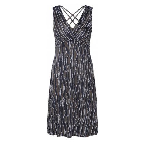S.Oliver BLACK LABEL Sukienka koktajlowa khaki / ciemnozielony / biały