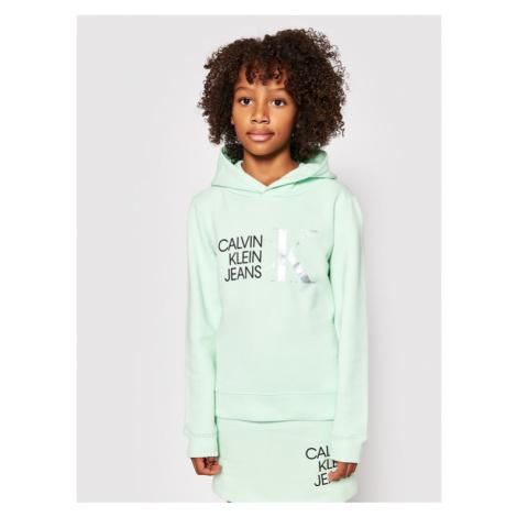 Calvin Klein Jeans Bluza Hybrid Logo IG0IG00873 Zielony Regular Fit