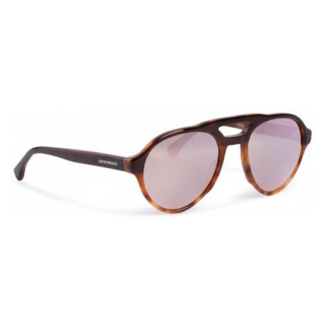 Emporio Armani Okulary przeciwsłoneczne 0EA4128 57494Z Brązowy