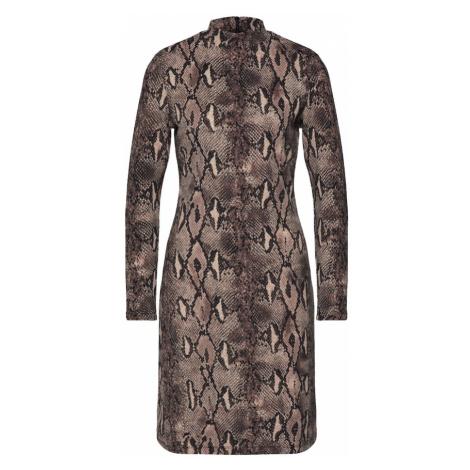 Mela London Sukienka 'SNAKESKIN' brązowy