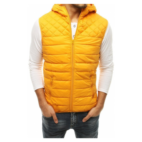 Yellow men's quilted vest TX3579 DStreet