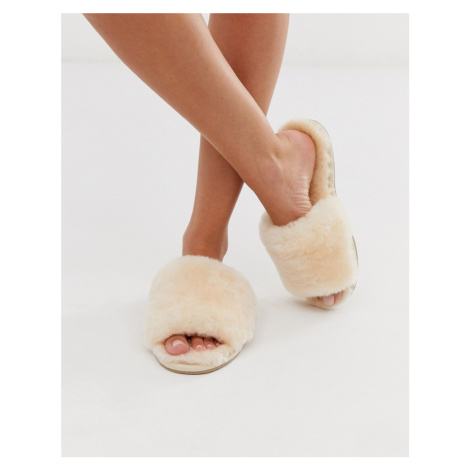 ASOS DESIGN Nola premium sheepskin slippers in beige