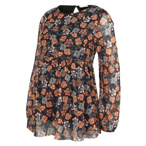 MAMALICIOUS Koszulka 'MLSMILLA' czarny / pomarańczowy Mama Licious