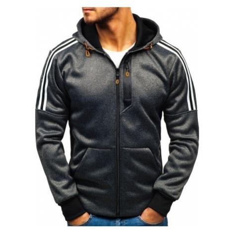 Bluza męska z kapturem rozpinana czarna Denley 5488