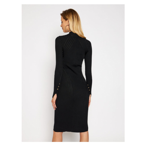 Versace Jeans Couture Sukienka dzianinowa B4HZB808 Czarny Slim Fit